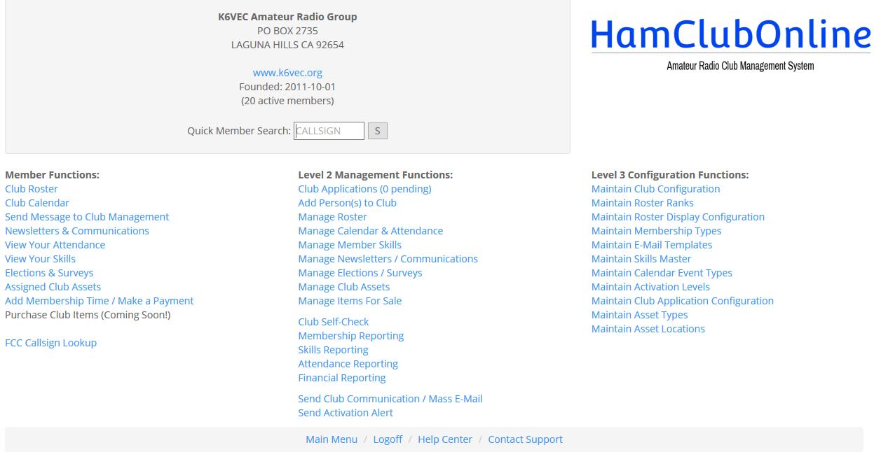 Features – HamClubOnline